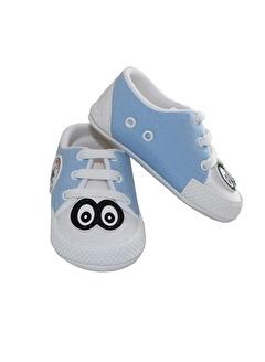 By Bebek Odam Gözlü Mavi Erkek Bebek Ayakkabı